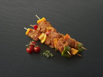 Brochette de dinde marinée aux Poireaux