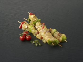 Brochette de poulet marinée romarin citron